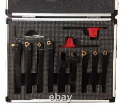 Rdg 9pc Indexable Lathe Turning Grooving Threading Set 8mm Myford