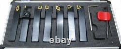 Rdgtools 9pc Indexable Lathe Turning Grooving Threading Set 16mm Shank