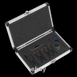 SM3025CS5 Sealey Indexable 8mm Lathe Turning Tool Set 7pc Lathes Machine Shop