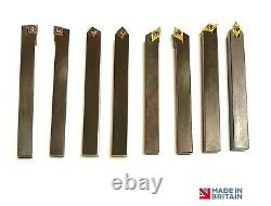 SPECIAL 10mm Lathe Turning Tool set with Carbide Inserts British Made Quality