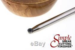 Set of 3 Carbide Simple Woodturning Tools & Handle Wood Lathe Cutting Turning