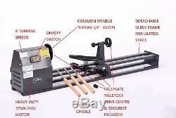 SwitZer Wood Turning Lathe Bench Top 350W 1M Woodworking Spin Machine SZ-WL01