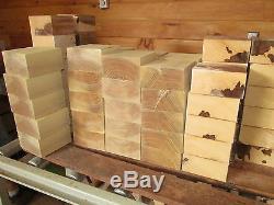 TEN (10) KILN DRIED BOWL BLANKS TURNING WOOD LUMBER LATHE 6 x 6 x3