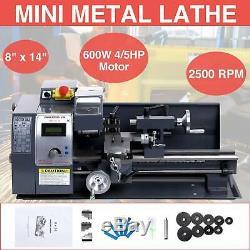 Upgraded 8x14600W Mini Metal Lathe Metalworking Woodworking With5 Turning Tools