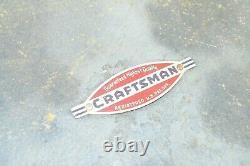 Vintage CRAFTSMAN Wood Lathe Turning Tool Set of 8 with Original Case UNUSED