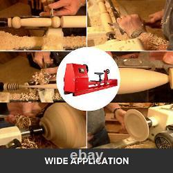 Wood Lathe 14 x 40 Power Wood Turning Lathe 400W 4 Speed Benchtop