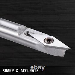 Wood Turning Tool Set Carbide Tipped Lathe Finisher/Rougher/Detailer/Hollow DIY