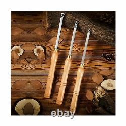 Woodturning Carbide Lathe Tools, 17 Full Size Wood Turning Tool Set of 3 Rou