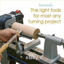 Woodworking Lathe Chisel Set 8 Piece Turning Tools Piece High Speed Wood Box