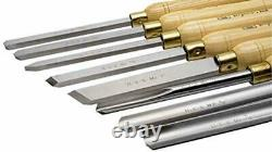 Woodworking Lathe Chisel Set Turning Tools Piece High Speed 8-Piece Wood Box New