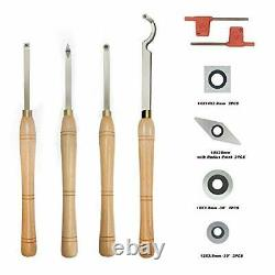 YUFUTOL Carbide Tipped Wood Turning tools Lathe set Finisher/Rougher/Detaile