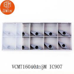100pcs Vcmt331-sm Vcmt160404 -sm Ic907 Carbure Inserts Tours Inserts