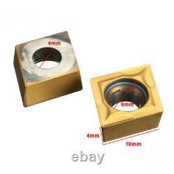 10pcs Ccmt09t304 Ccmt32.5 Inserts Carbide Pour Porte-outils Tournant Lathe Sclcr