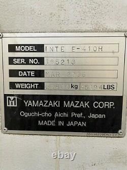 2006 Mazak Integrex E-410h Centre De Turning Cnc Lathe Nouvelle Broche Installée Mazak
