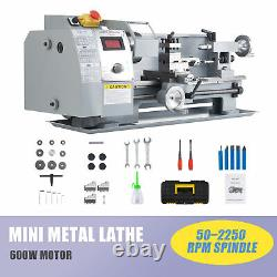 2500rpm Mini Tour Machine Pour Tourner Fraisage Perçage Filetage Métal 8x14