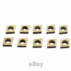 4 Sclcr06 6/7/8/10 MM Lathe Barre D'alésage Outil Tournant 10 Carbide Insert Ccmt060204