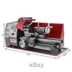 600w Automatique Mini Tour Metal Machine Turning Métal Bois Drilling 7 '' X 12'