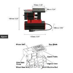 6 En 1 Diy Mini Wood Metal Motorized Lathe Machine Woodworking Turning Tool Kit