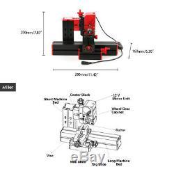 6 En 1 Mini Bricolage Bois Métal Motorisé Tour Machines À Bois Tournant Tool Kit
