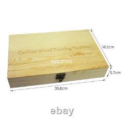 6pcs Wood Turning Tool Carbide Insert Cutter Ensemble Avec Poignée En Aluminium Pour Lathe