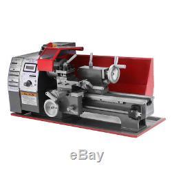 7 × 12 Mini Métal Tournage Lathe Machine Automatique Métal Bois Forage 600w