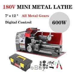 7 '' X 12 '' 600w Automatique Mini Tour Metal Machine Turning Métal Bois Forage