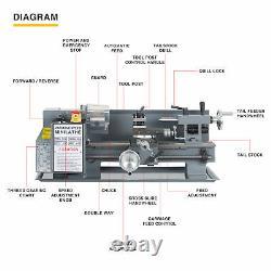 7x12 2250rpm Mini Lathe Machine Pour Tourner La Coupe De Forage Threading Métal