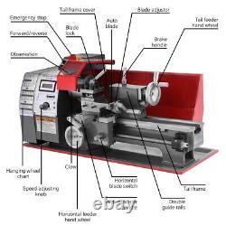 7x12 Mini Tour Machine Pour Tourner Le Forage De Forage Filetage Métal 2250rpm