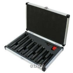 8 Pc 3/4'' Shank Indexable Boring Set Insert Turning Lathe Tool Holder