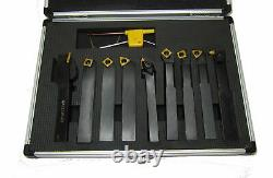 Ensemble Indexable De Lat Outol Set 12mm Shank 9pc Tournage Boring Parting Grooving Rdgtools