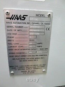 Haas St-10 Cnc 2 Axe Turning Center Lathe Nouveau 2013