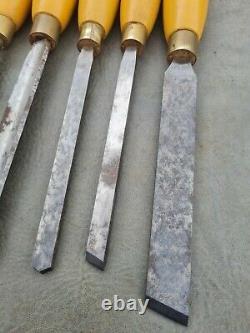 Henry Taylor Diamic Wood Turning Chisels Set De 8 Outils De Tour En Bois
