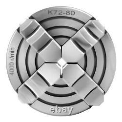 K72-80 4-jaw Independent & Reversible Jaw Metal Tourner Les Pièces De La Machine Chuck