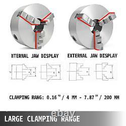 Lame Chuck K11-200 8 3 Jaw 200mm Jaw Réversible 3600r/min Acier De Tournage En Bois