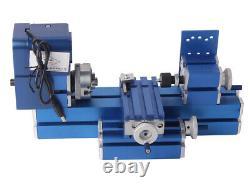 Metal Mini Turning Lathe Machine Motorized Metalworking Diy Wood Tool Hobby États-unis