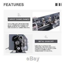 New 8.7x 23.6 Mini Métal Lathe1100w Metal Gear Brushless 5 Outils De Tournage