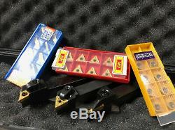 Nouveau Jeu D'outils Lathe Indexables Outils De Tournage 5/8 Et 30 Carbide Inserts