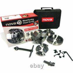 Nouveau! Nova Tk-48246 Discussion Directe 1 Pouces X 8tpi G3 Tournage De Bois Chuck Bundle Set