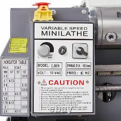 Nouvel Écran Numérique 7x 14 Mini Metal Lathe 550w Metal Gear Avec 5 Outils Rotatifs
