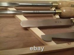 Outils De Rotation En Bois 4pcs Dans La Boîte En Bois Ciseau Hss Woodturning Lathe Tool