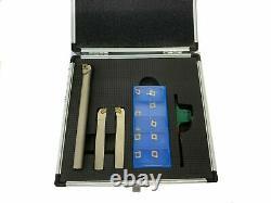 Rdg 10mm Indexable Lathe Turning Set Boxed Lh +rh + Boring Bar + Inserts Ccmt06