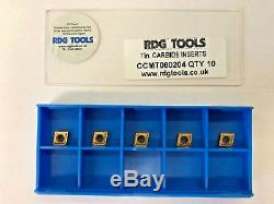 Rdgtools 5x Ccmt 06 Carbure Conseils / Inserts / Amovible Lathe Tournage Outils