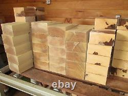 Seize (16) Feuilles De Bol D'érable Lathe Turning Blocks Wood Carve 6x6x3