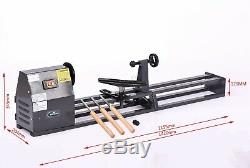 Switzer Tournage De Bois Lathe Banc Haut 350w 1m Travail Du Bois Spin Machine Tool Set