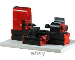 Zhouyu 24w Mini Tour De Bois Lathe Machine Edition Diy Power Tool Travail Du Bois