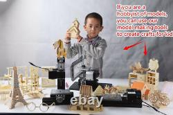 Zhouyu 60w Mini Bois-tournant Lathe Diy Woodworking Power Tool Modelmaking Hobby